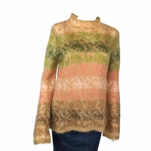 Talbots Mohair 2 Piece Mock with Tank Turtleneck Sweater